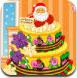 装扮圣诞节三层蛋糕