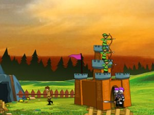 射箭守护城堡