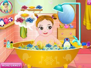 第一次为小孩洗澡