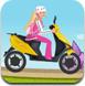 芭比骑车上学