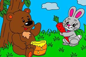 兔子与熊填颜色