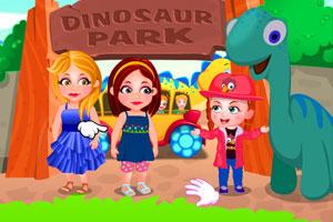 可爱宝贝逛恐龙公园