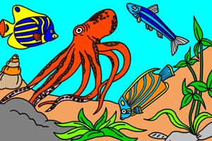 海底世界填颜色