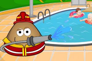 土豆君打扫院子